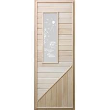 Дверь липа прямоугольное стекло DoorWood