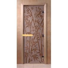 """Дверь сатин """"Бамбук, бабочки DoorWood"""