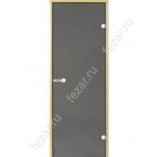 HARVIA Дверь стеклянная 7/19 коробка сосна серая