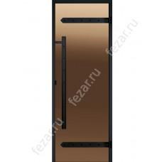 HARVIA Дверь стеклянная LEGEND 7/19 черная коробка сосна бронза