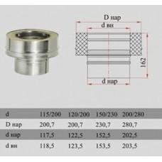 ДЫМОК Переходник ДМК ЛЮКС с D180 0,5мм на D180/260 с изол 321/439