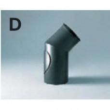 Отвод 45° с ревизией d130 (EdilKamin)