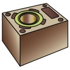 Бетонный блок , с вент. каналом, 35х50 (Hart)