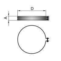 ВУЛКАН Хомут соединительный DHH на трубу D120 с изол.50мм оцинк
