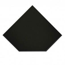 ВУЛКАН Предтопочный лист VPL021-R9005 1100х1100 черный